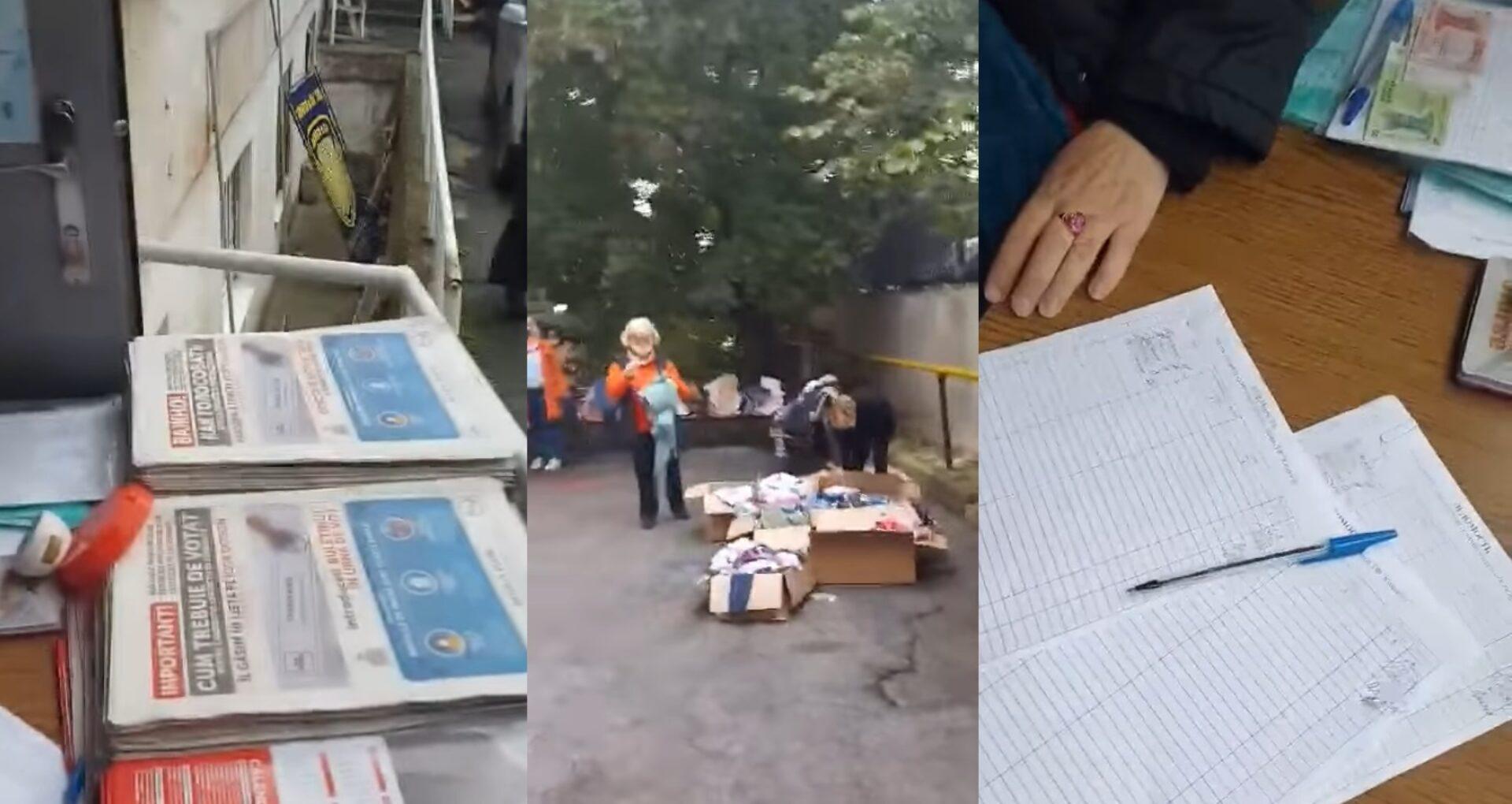 """VIDEO/ Ajutor umanitar, la pachet cu pliante electorale ale lui Igor Dodon. Pentru """"darea de seamă"""" beneficiarii semnau într-o listă"""