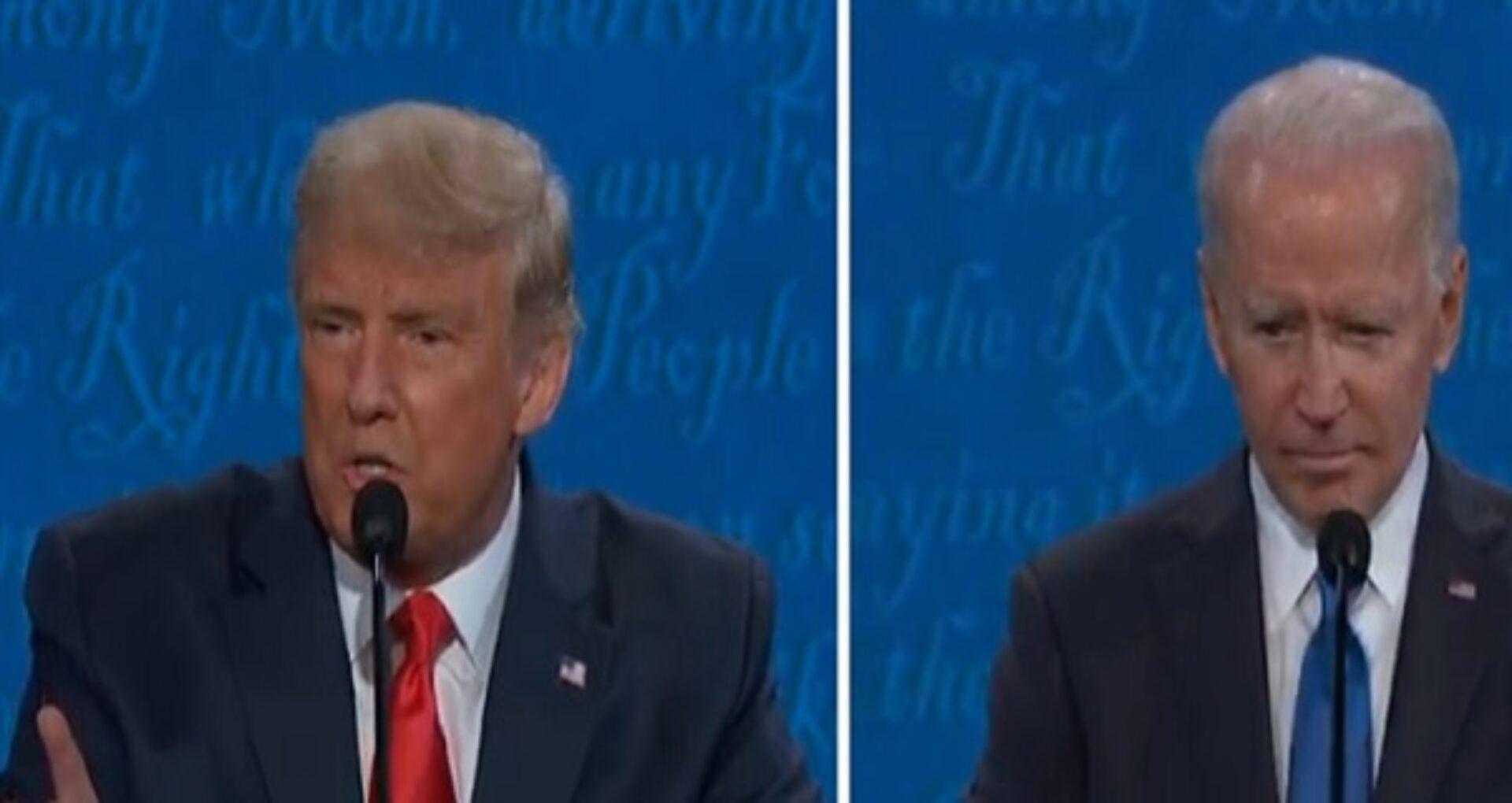 """Dezbaterea finală Trump-Biden. """"China construiește un drum nou către stațiunea ta de golf. Care e treaba cu asta?"""""""