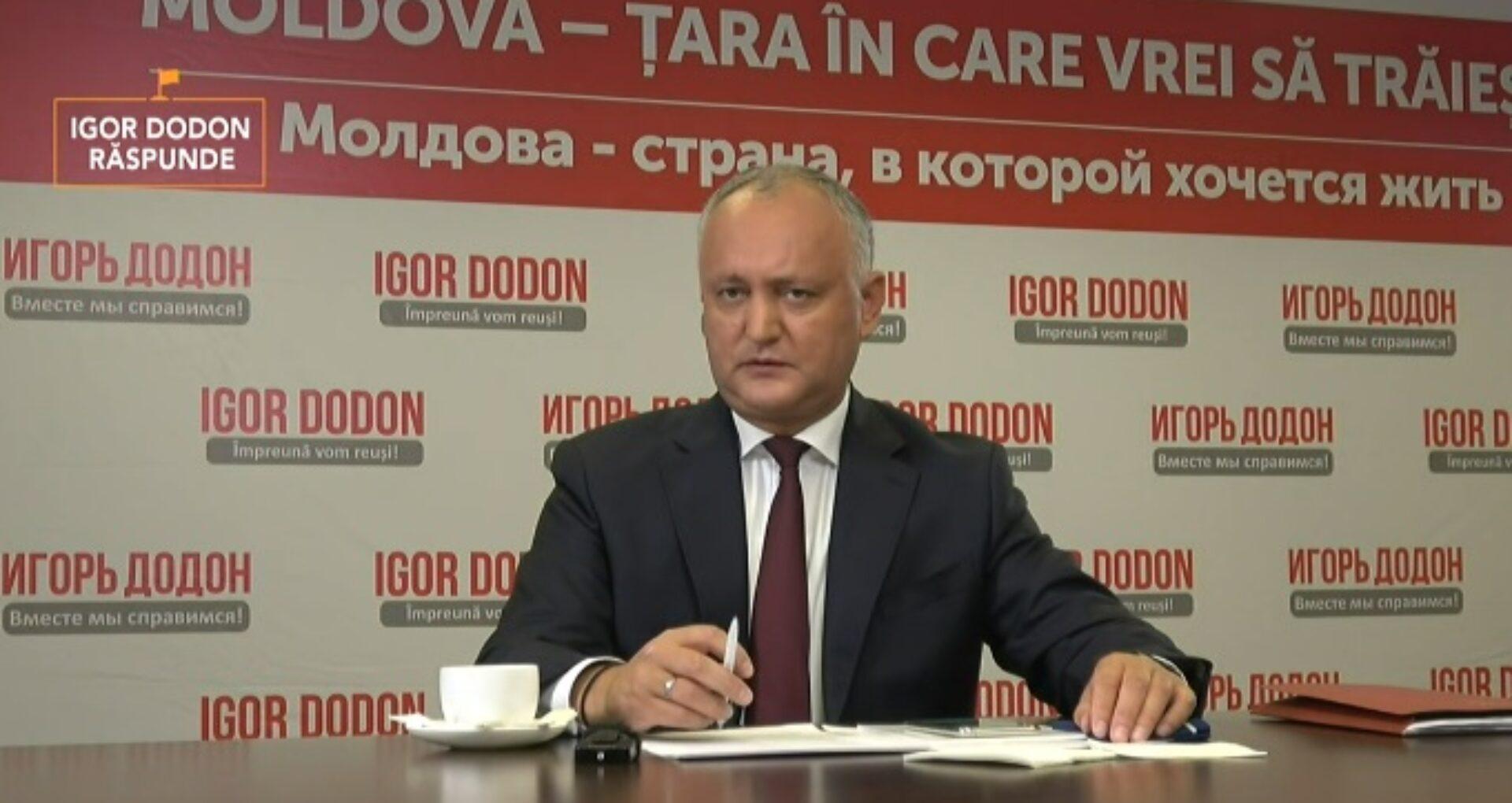 VIDEO/ Igor Dodon vrea republică prezidențială și limba rusă obligatorie în școli