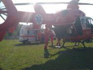 FOTO/ Intervenție SMURD: Un tânăr de 23 de ani din Taraclia, care a suferit arsuri pe 60% din suprafața corpului, transportat cu elicopterul la Chișinău