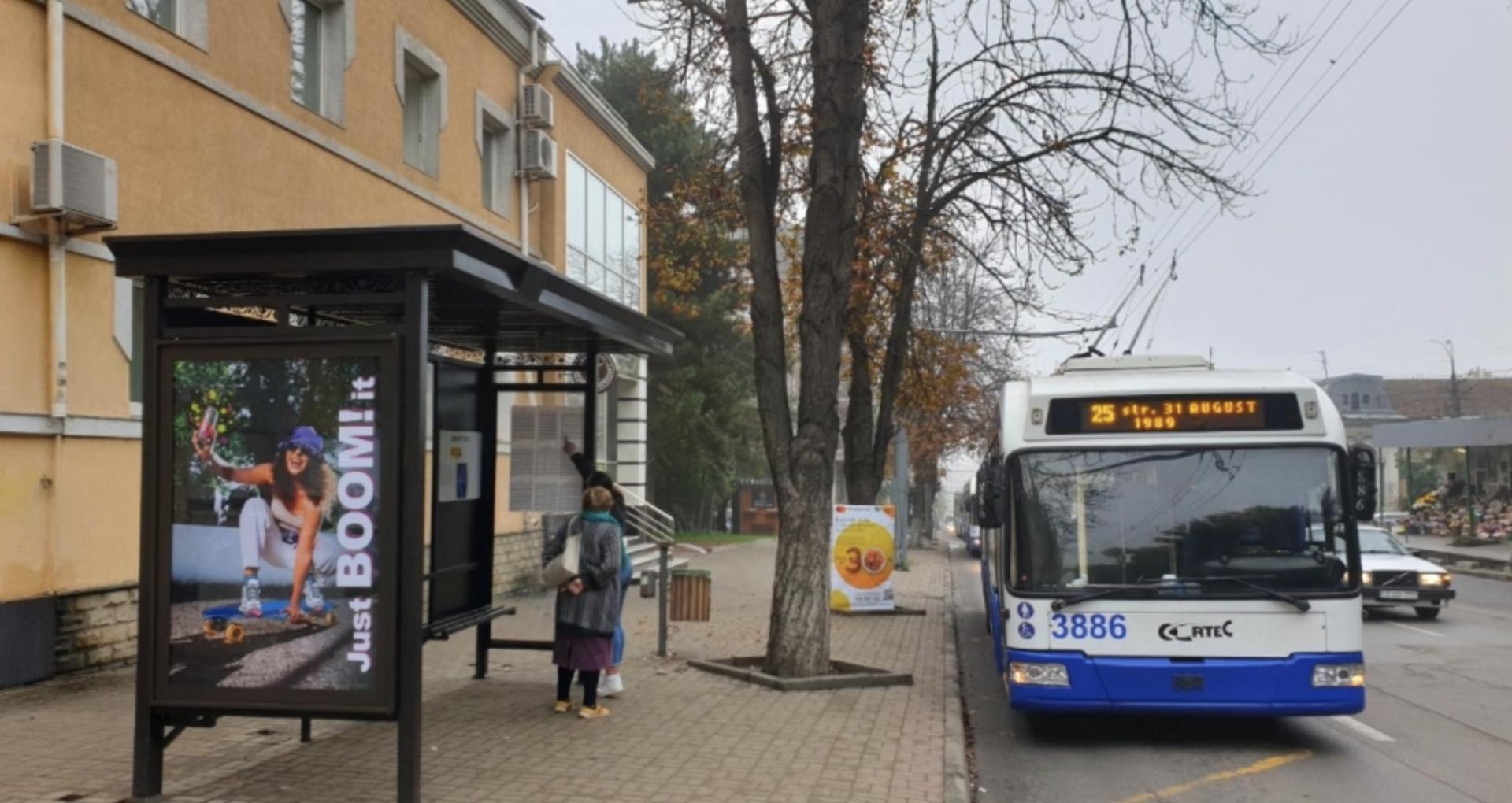 28 stații de așteptare a transportului public din Chișinău, renovate
