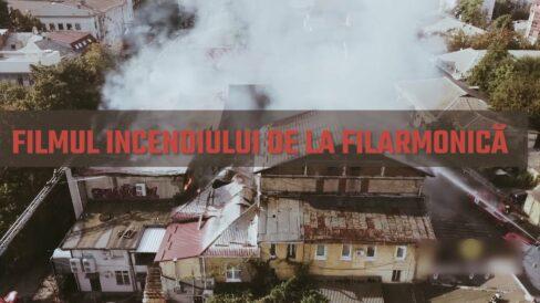 Filmul incendiului de la Filarmonică: Mărturiile inginerului care a încercat să stingă focul de unul singur