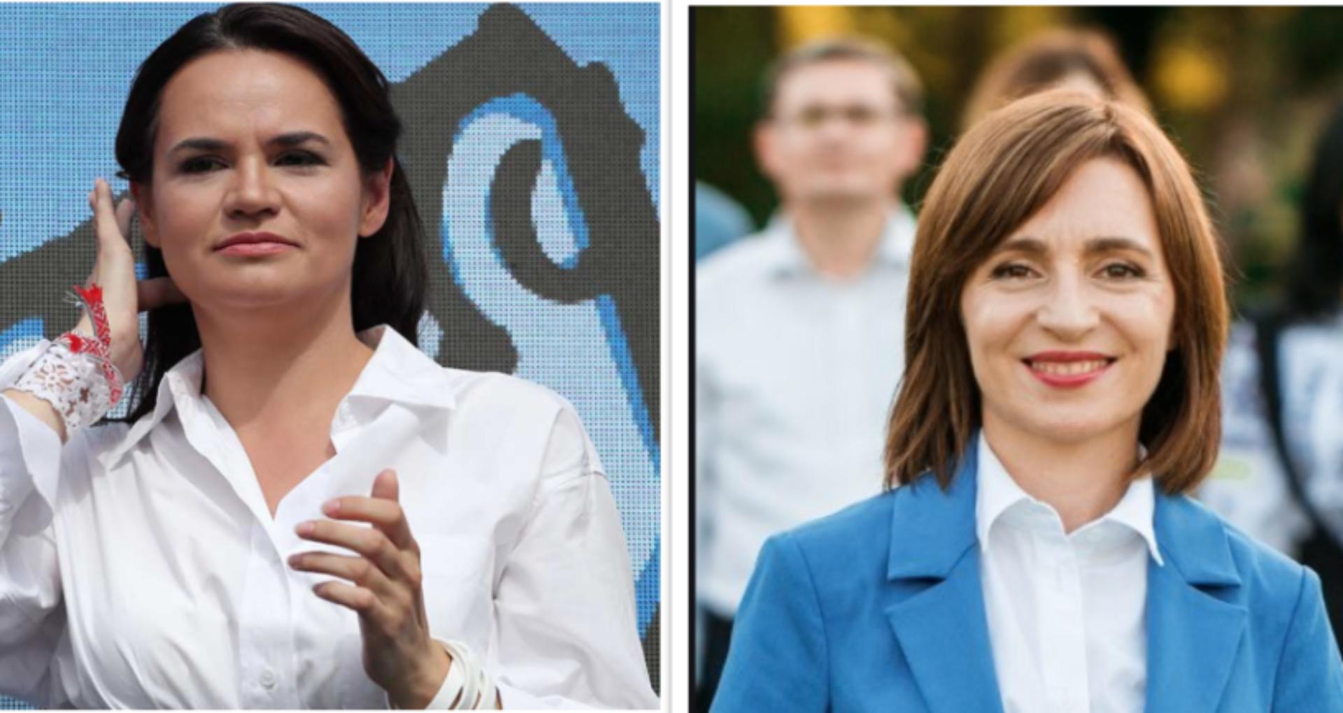 """Svetlana Tikhanovskaya o felicită pe Maia Sandu pentru câștigarea alegerilor prezidențiale: """"Sub conducerea ei poporul moldovenesc va prospera și relațiile dintre națiunile noastre se vor dezvolta"""""""