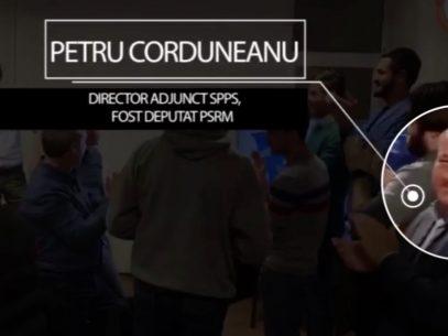 Directorul adjunct al SPPS și șoferul lui Dodon, surprinși la sediul PSRM în timp ce aplaudă victoria lui Ion Ceban la alegerile locale din 2019. Reacția directorului SPPS