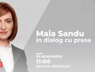 LIVE/ Prima conferință de presă a președintei alese. Maia Sandu va răspunde întrebărilor jurnaliștilor