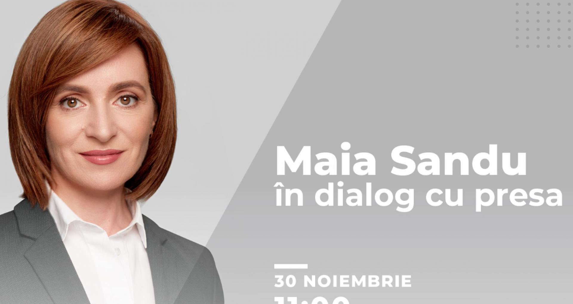 LIVE-TEXT/ Prima conferință de presă a președintei alese. Maia Sandu despre când va avea loc inaugurarea și unde va fi prima vizită în străinătate