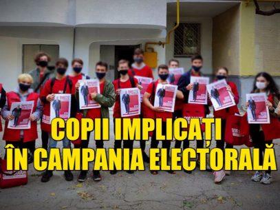 Copii implicați în campania electorală a candidatului Igor Dodon