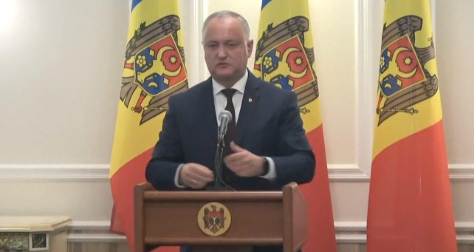 """Primele declarații ale lui Dodon după anunțarea rezultatelor preliminare: """"Preferințele diasporei se află în disonanță cu preferințele populației care trăiește în R. Moldova"""""""