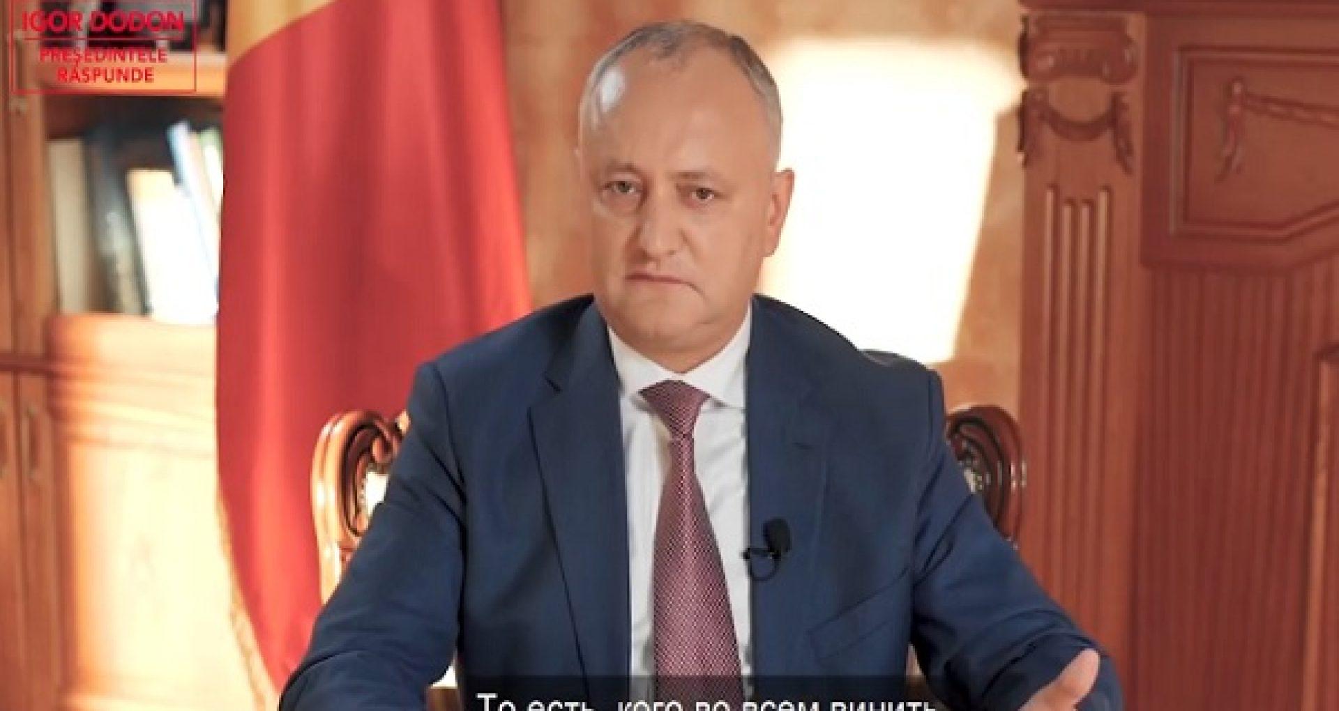 """După ce anterior """"le-a amintit"""" cetățenilor că R. Moldova este țară parlamentară, Dodon susține că noul președinte ales trebuie să își asume responsabilitatea pentru situația din țară"""