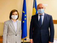 Liderul PDM, Pavel Filip, s-a întâlnit cu președintele ales al R. Moldova, Maia Sandu