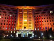 FOTO/ Clădirea Parlamentului a fost iluminată în oranj, pentru a sensibiliza societatea despre violența împotriva femeilor
