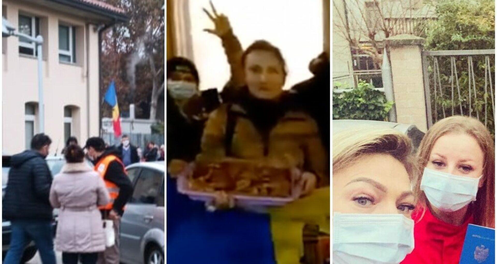 VIDEO/ Gesturile emoționante ale diasporei: Cu plăcinte la secția de la Haga, voluntari pentru ordine la Mestre și medici veniți din tură să voteze la Parma