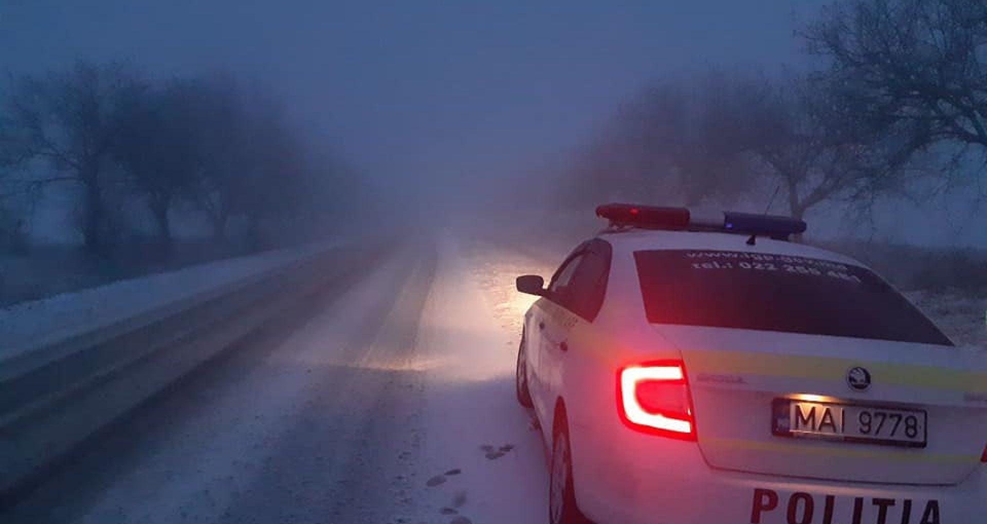 FOTO/ Drumuri din Ștefan Vodă, acoperite de zăpadă. Anunțul făcut de autorități