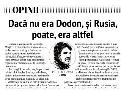 Dacă nu era Dodon, și Rusia, poate, era altfel