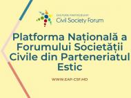 Platforma Națională a Forumului Societății Civile din Parteneriatul Estic a prezentat planul de acțiuni pentru anul 2021