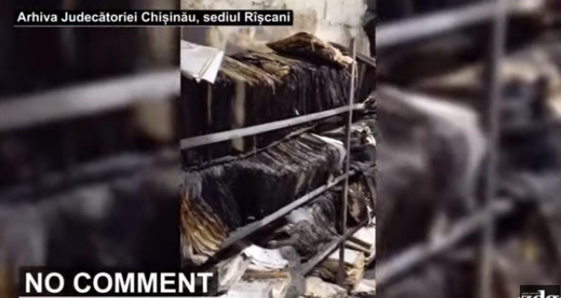 VIDEO/ Cum arată arhiva Judecătoriei Chișinău, sediul Rîșcani: documente aruncate pe jos într-o încăpere cu pereți goi