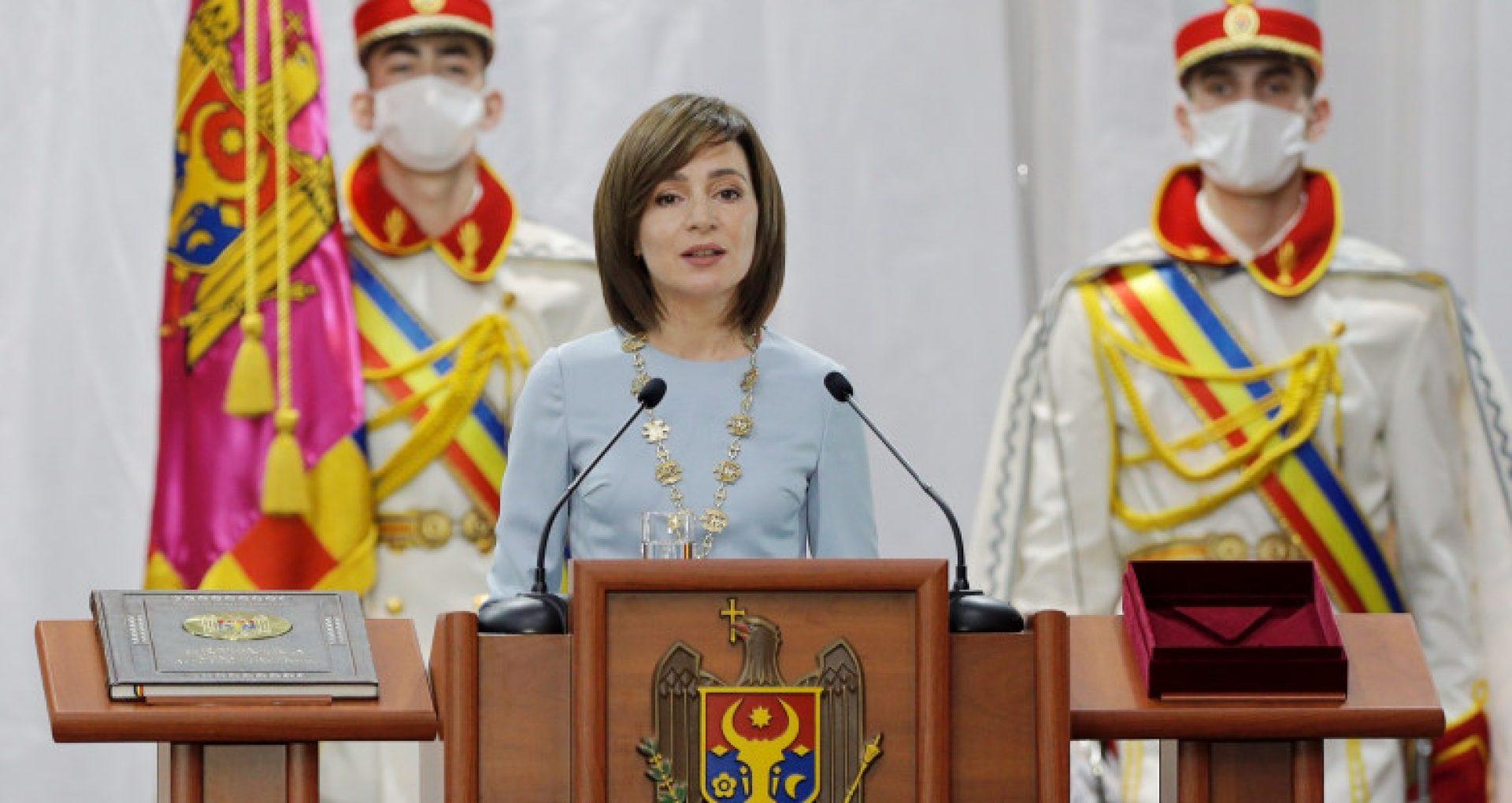 Președinta Maia Sandu a vorbit în română, rusă, bulgară, găgăuză și ucraineană în primul ei discurs după învestitură