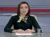 """VIDEO/ Președinta aleasă a R. Moldova, către cetățeni: """"Împreună trebuie să oprim această tentativă de uzurpare a puterii"""". Apelul făcut de Maia Sandu la Moldova 1"""