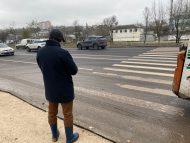 """FOTO/ Ceban declară că Primăria nu va recepționa lucrările de aplicare a marcajului pe strada Albișoara: """"Am rămas dezamăgit"""""""