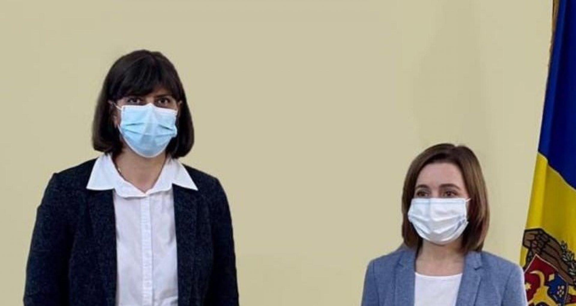 """Maia Sandu a avut astăzi o întrevedere cu Laura Codruța Kövesi, Procuror-șef al Parchetului European: """"Am discutat despre nevoia de a impulsiona reformele din sistemul justiției în R. Moldova"""""""