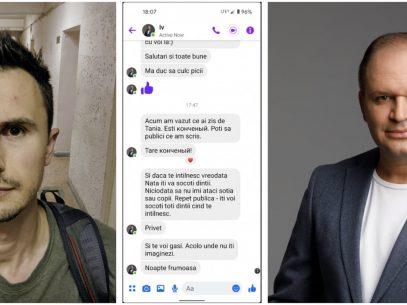 Amenințări și insulte adresate de primarul general al Chișinăului, Ion Ceban, vloggerului Andrei Bolocan