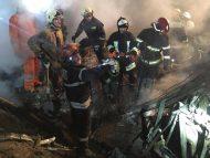 Detalii despre explozia de la Sângerei: Salvatorii au evacuat trei butelii de gaz de tip propan butan