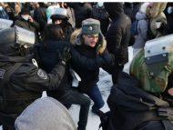 LIVE/ Proteste anti-Putin în Rusia, la -50 de grade. Zeci de persoane, bătute și arestate de poliție