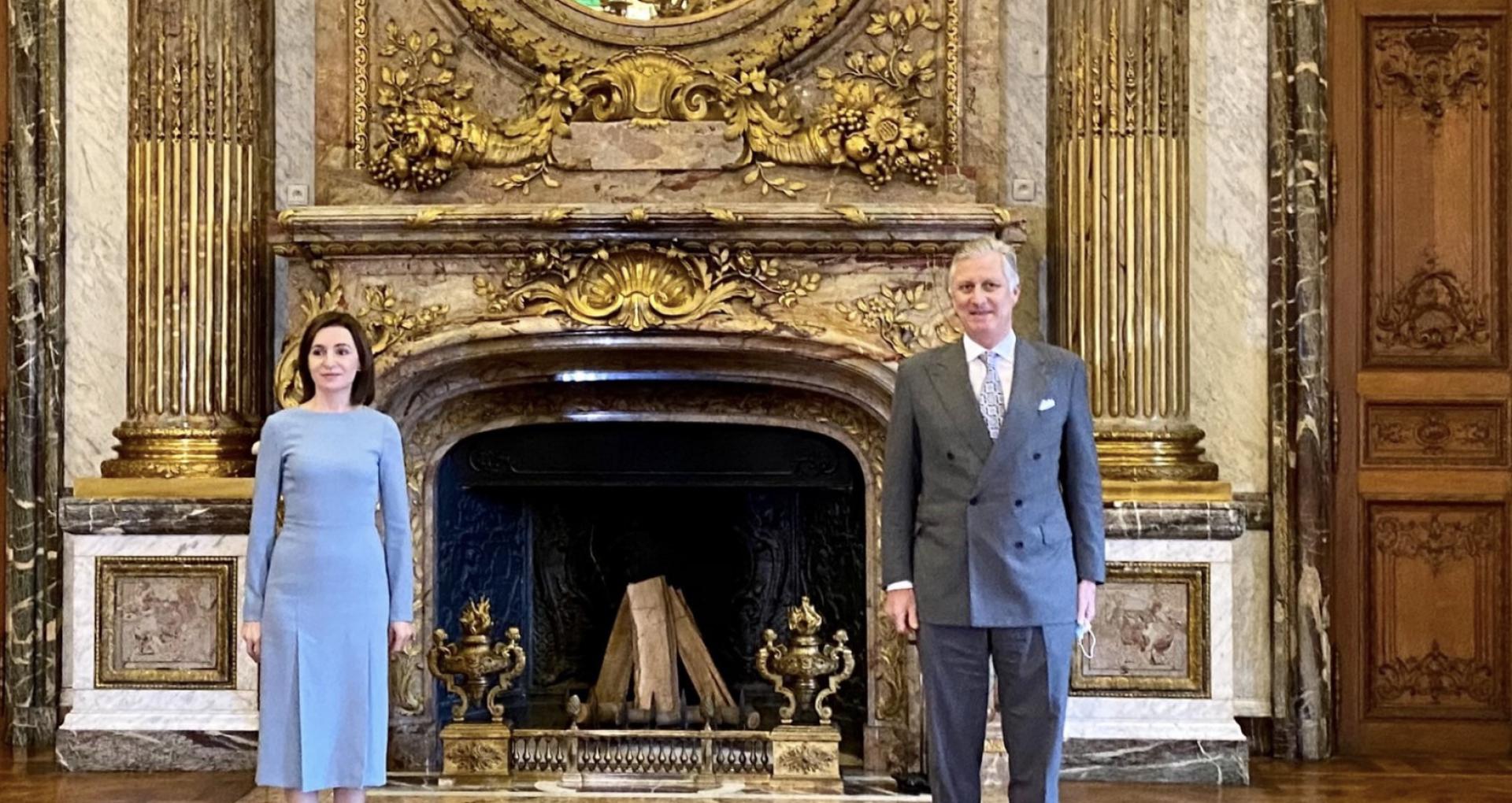 Președinta Maia Sandu a avut o întrevedere și cu Majestatea Sa, Regele Philippe al Belgiei