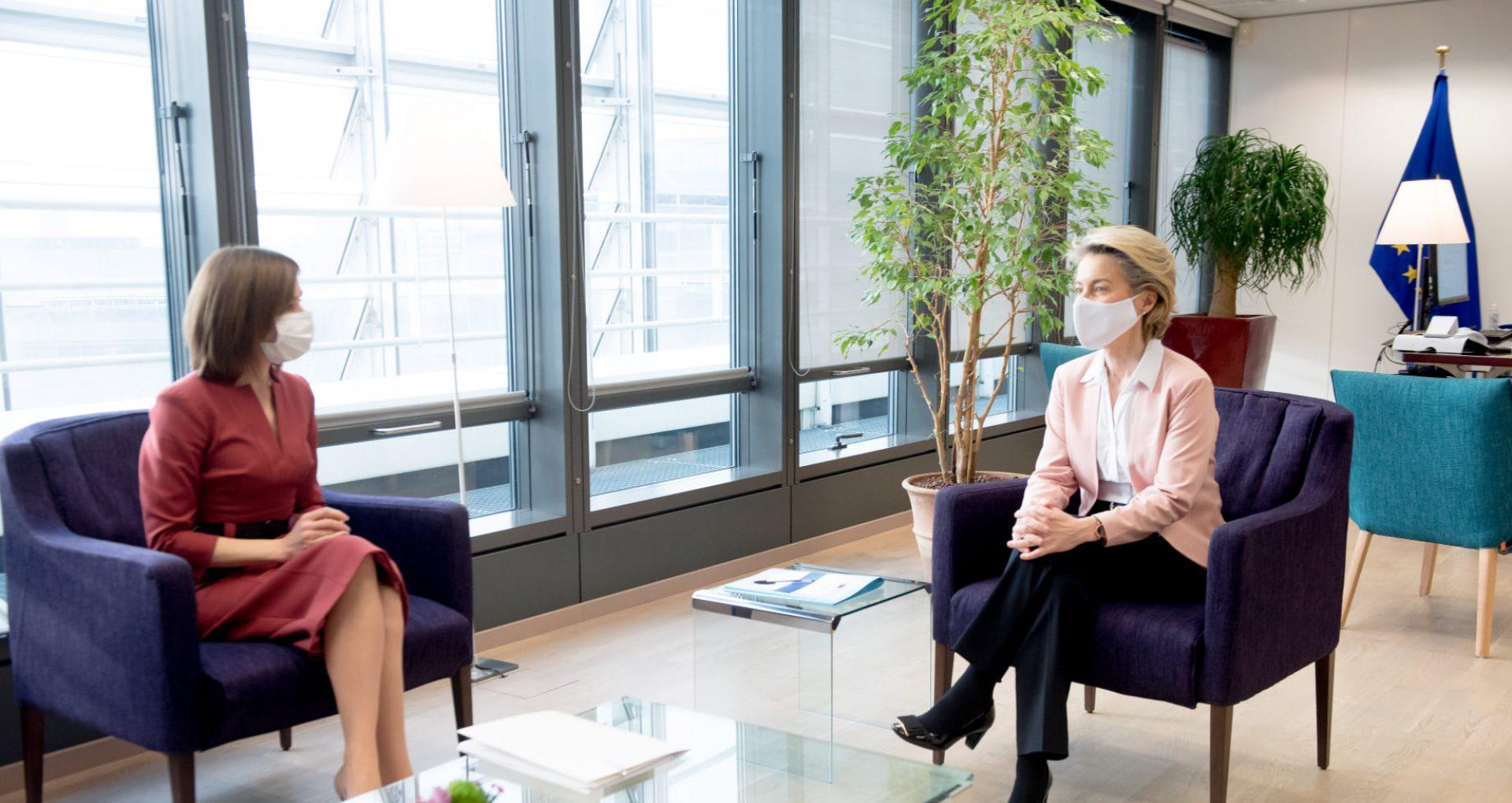 Mesajul transmis de președinta R. Moldova, Maia Sandu, după întrevederea cu președinta Comisiei Europene, Ursula von der Leyen
