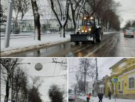 FOTO/ În Chișinău se circulă în condiții de iarnă. Drumarii au lucrat toată noaptea la deszăpezire
