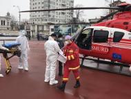 Ajutor aero-medical SMURD pentru un femeie în vârstă de 64 de ani care a suferit arsuri