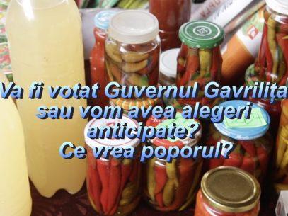 VIDEO/ Va fi votat Guvernul Gavrilița sau vom avea alegeri anticipate? Ce vrea poporul?