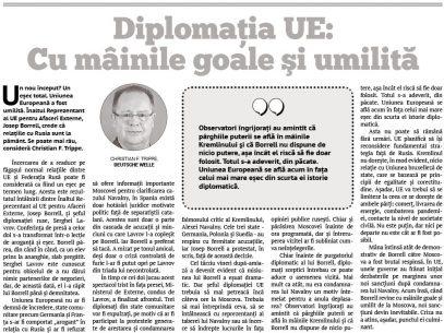 Diplomația UE: Cu mâinile goale şi umilită