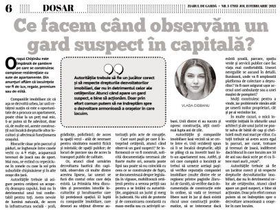 Ce facem când observăm un gard suspect în capitală?