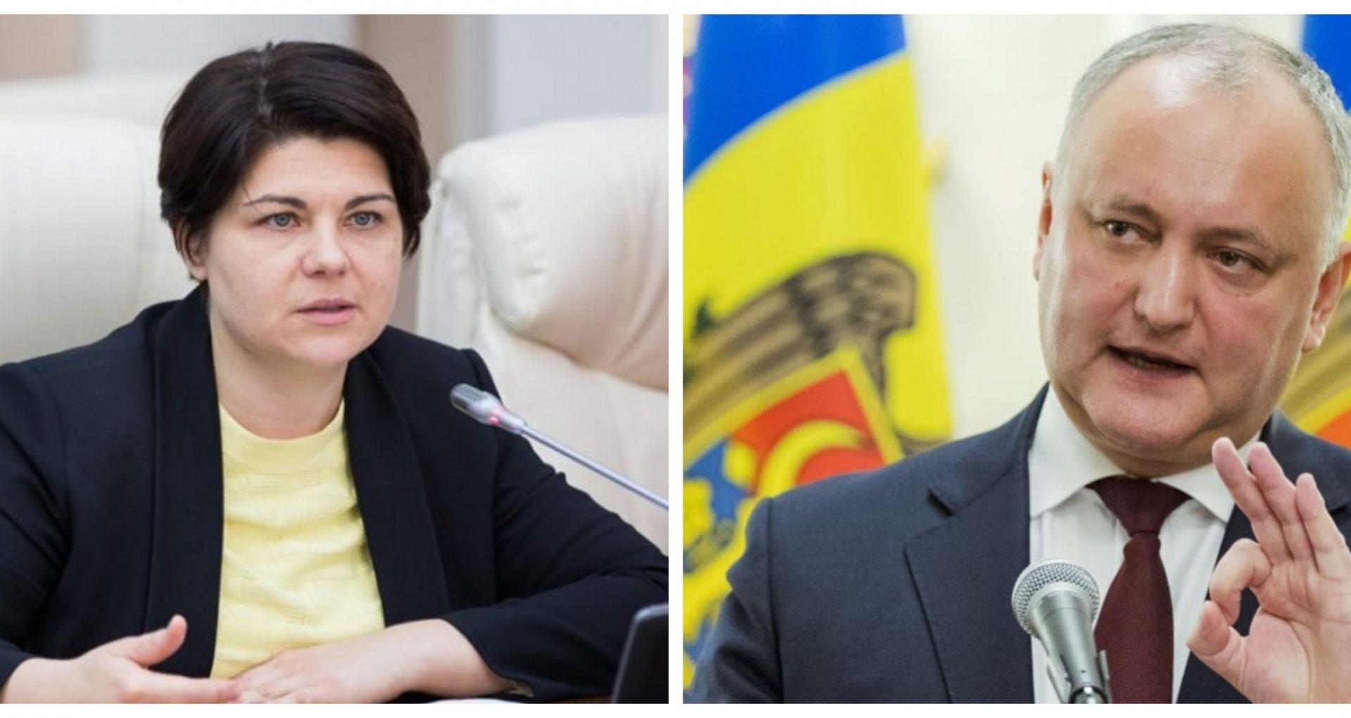 """Natalia Gavrilița: """"Parlamentul poate iniția procedura de impeachment și organiza un referendum pentru a întreba cetățenii ce își doresc"""". Dodon: """"Nu va fi nici referendum și nici anticipate"""""""
