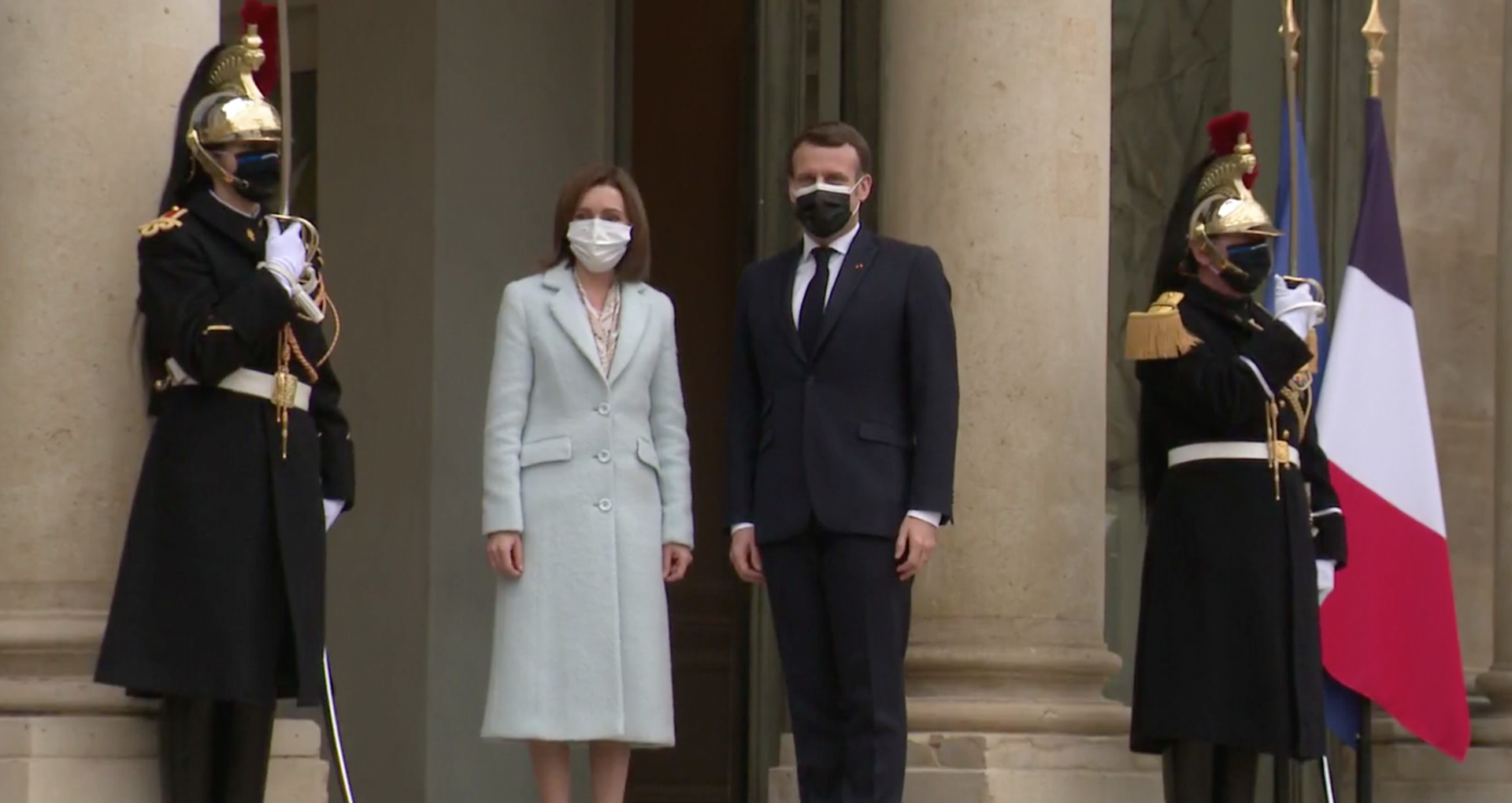 VIDEO/ Declarația comună a președinților Maia Sandu și  Emmanuel Macron