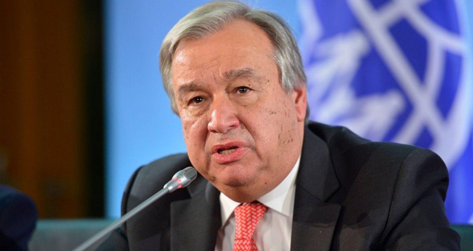 """""""Criza cu chip de femeie"""". Antonio Guterres, secretar general ONU: Răspunsul la COVID-19 a dezvăluit puterea și eficiența conducerii de către femei"""