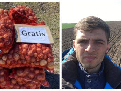 Cum a ajuns un agricultor de la Ocnița să ofere gratuit oamenilor din producția sa de ceapă