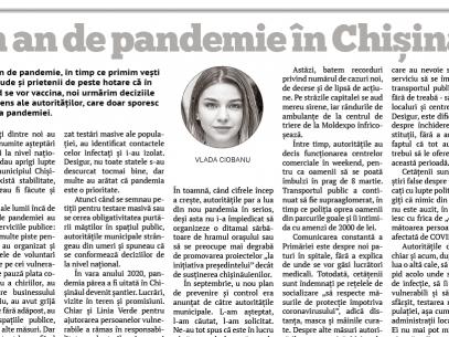 Un an de pandemie în Chișinău