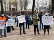 """VIDEO/ Angajații de la """"Calea Ferată din Moldova"""" protestează în fața Parlamentului și a Președinției"""