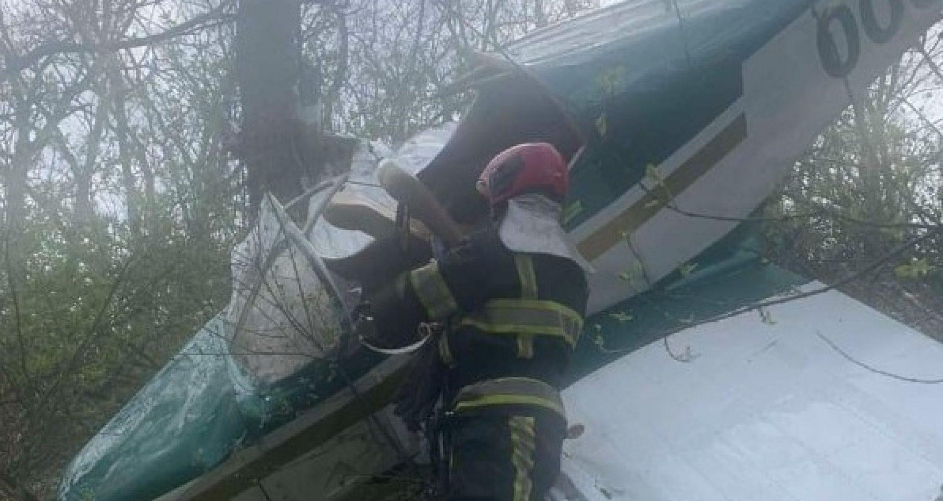 FOTO/ Un avion de mici dimensiuni s-a prăbușit la Vadul lui Vodă