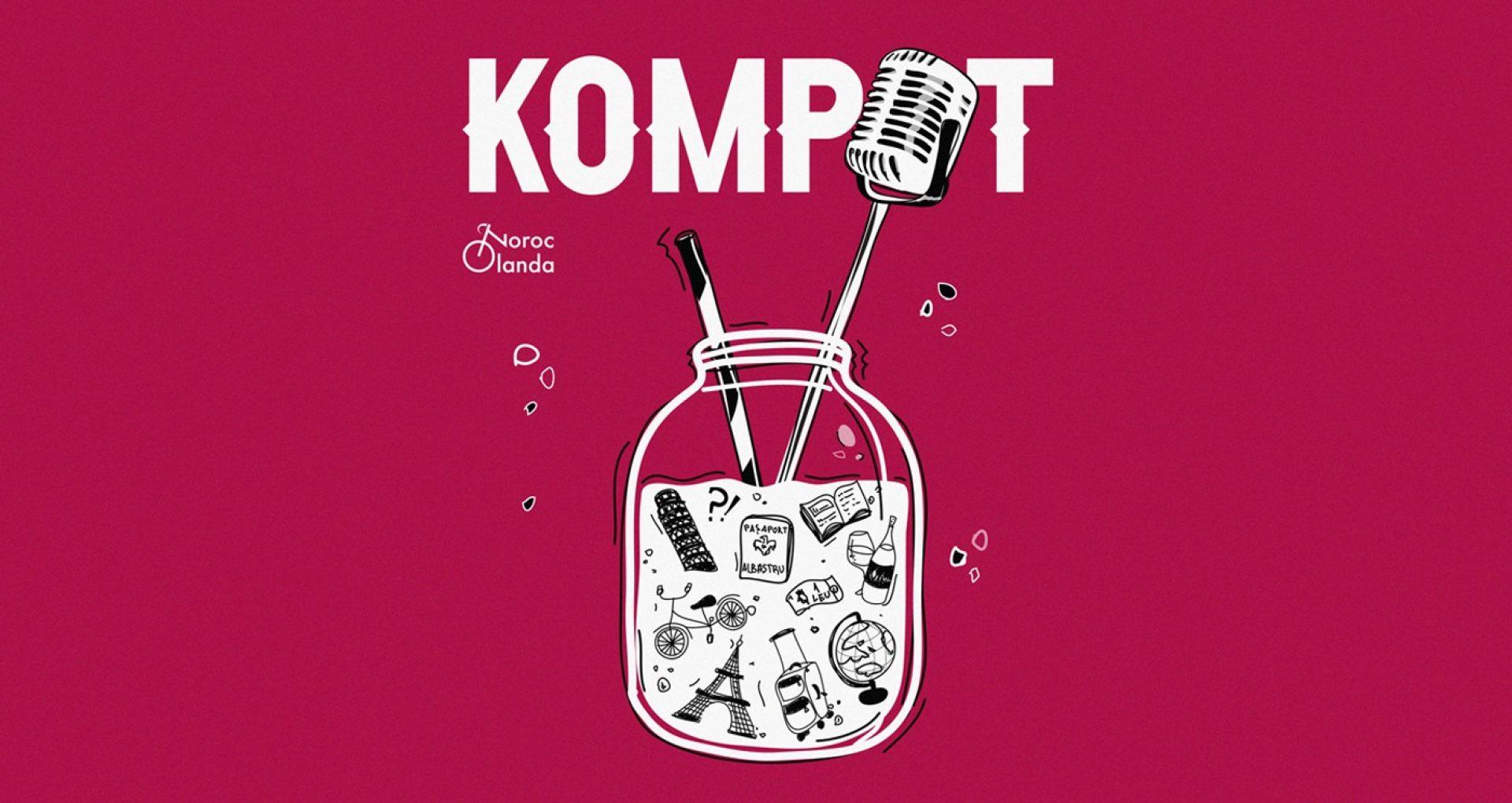 """Un microfon al diasporei: În conversație cu gazdele podcastului """"Kompot"""""""