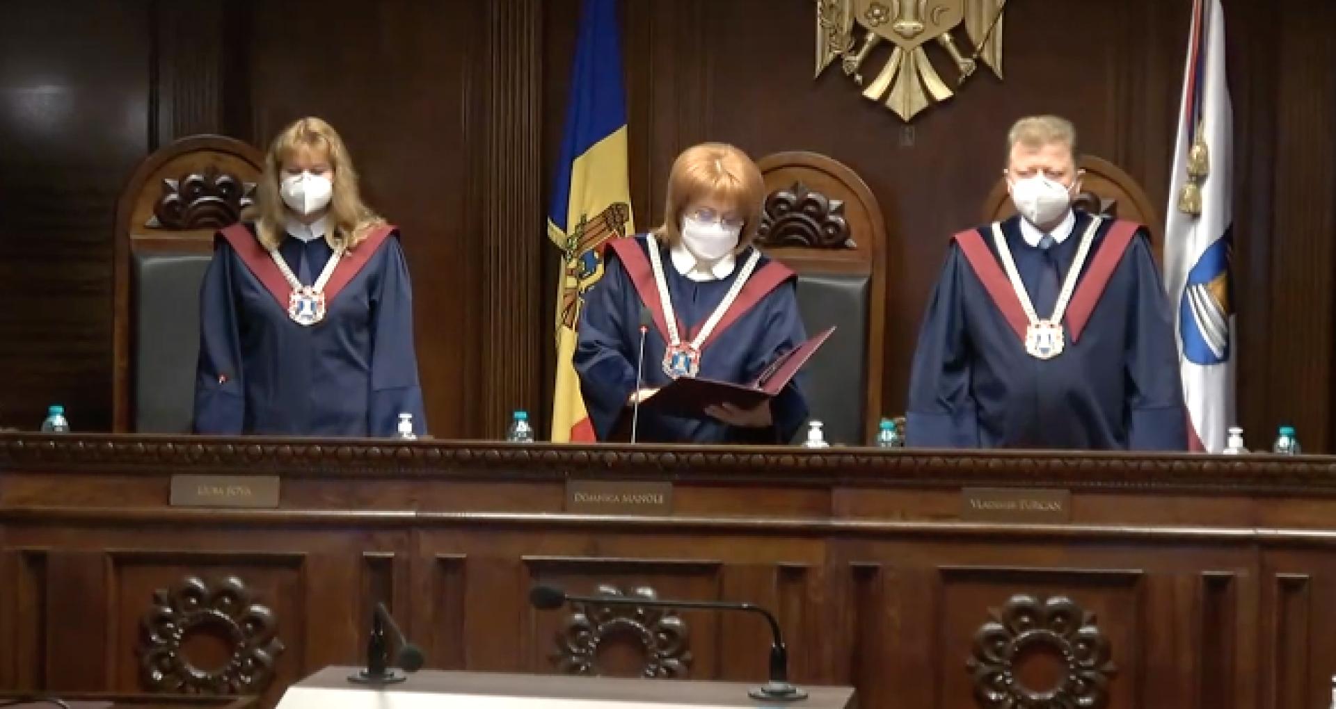 """ULTIMA ORĂ! Curtea Constituțională declară neconstituționale hotărârile PSRM-ȘOR privind """"revocarea mandatului de judecătoare a Domnicăi Manole"""" și numirea lui Boris Lupașcu"""