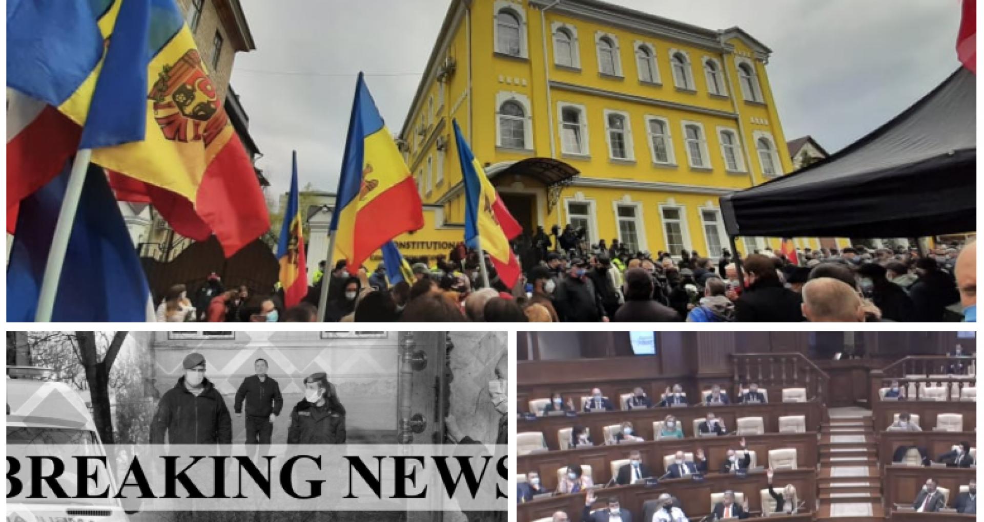 ULTIMA ORĂ! Curtea Constituțională: starea de urgență instituită în R. Moldova este NECONSTITUȚIONALĂ. În aceste condiții Parlamentul poate fi dizolvat