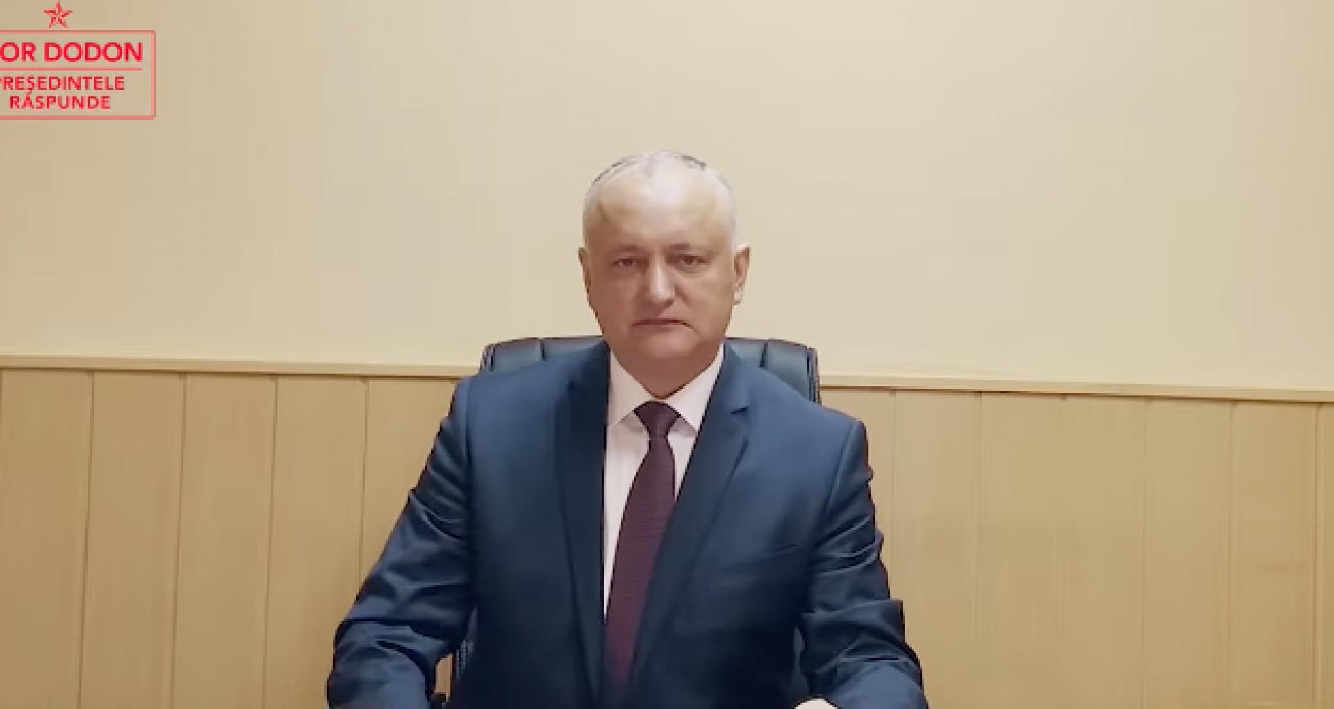 """Circulara emisă de Ministerul de Externe, după ce Dodon a filmat un episod din emisiunea sa în incinta Ambasadei R. Moldova la Moscova: """"Sediile misiunilor diplomatice nu pot fi folosite în scopuri politice"""""""