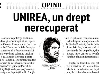 UNIREA, un drept nerecuperat