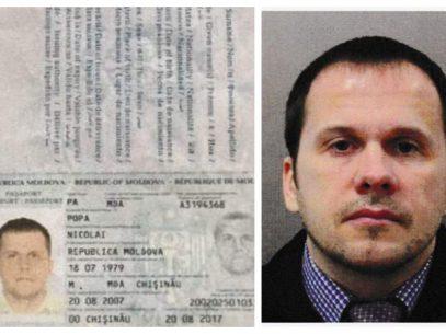 Pașaportul moldovenesc folosit de agentul rus Alexandr Petrov, emis în Chișinău pe numele unei alte persoane