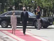 VIDEO/ Ceremonia oficială de întâmpinare a președintelui R. Lituania, Gitanas Nauseda, de președinta R. Moldova, Maia Sandu