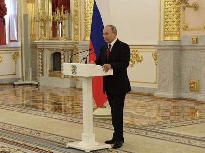 """FOTO/ Mesajul transmis de Vladimir Putin către R. Moldova: """"Vom continua să promovăm căutarea unei soluții corecte pentru regiunea transnistreană și a unui acord care să-i acorde un statut special"""""""
