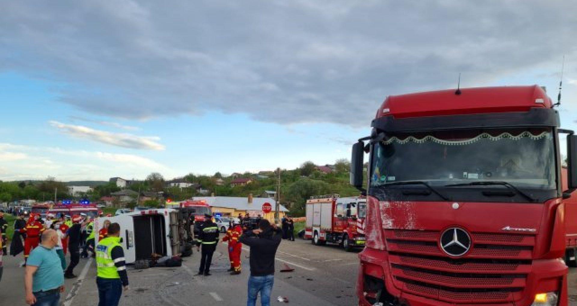 Detalii despre accidentul produs în județul Iași, în care au fost implicați 16 cetățeni ai R. Moldova